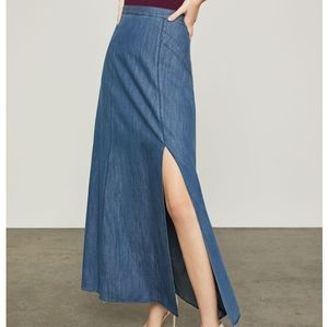 BCBG Chambray Maxi Skirt